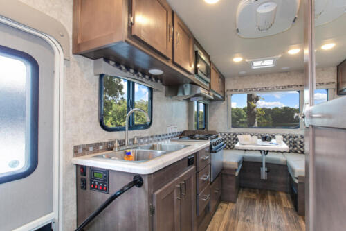 Four Seasons RV Rentals - Class C Small Motorhome | Kitchen