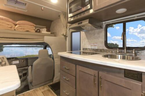Four Seasons RV Rentals - Class C Medium Motorhome | Kitchen