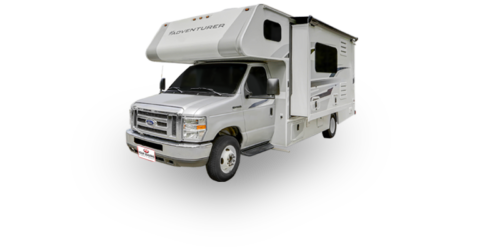 Four Seasons RV Rentals - Class C Large | Driver's Side Exterior with Slideout