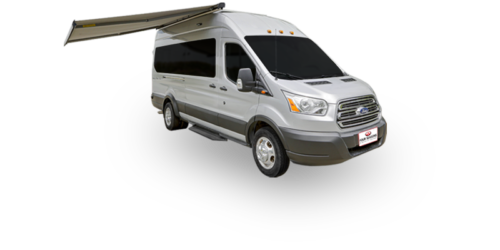 Four Seasons RV Rentals - Van Conversion | Passenger's Side Exterior with Awning